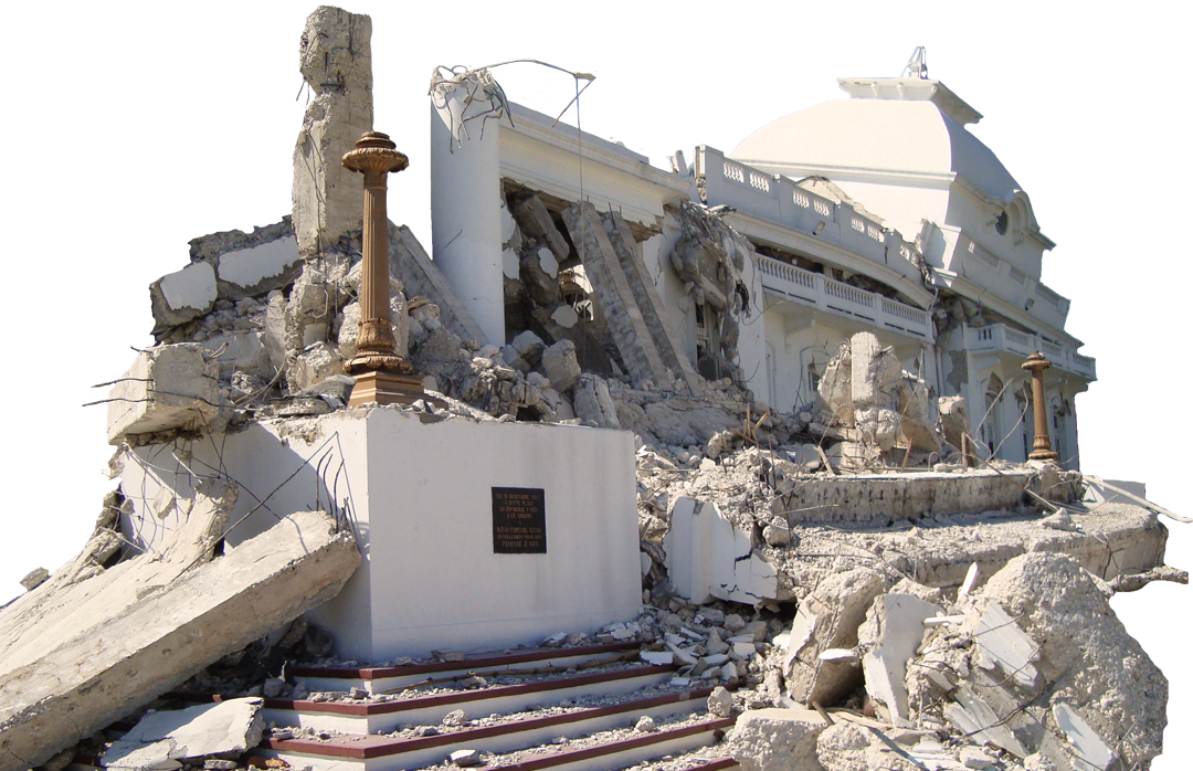 Photo of the aftermath of the earthquake in Haite, 2010