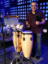Eric Playing Percussion